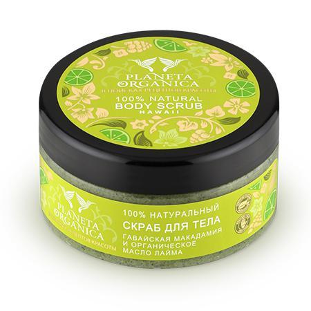 Купить Скраб для тела гавайская макадамия и органическое масло лайма planeta organica