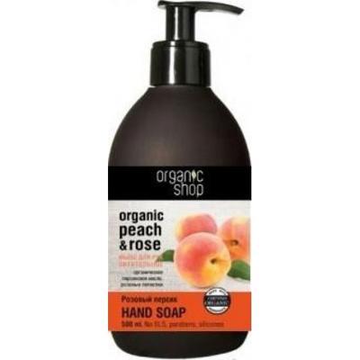 Купить Мыло для рук жидкое питательное «розовый персик» organic shop