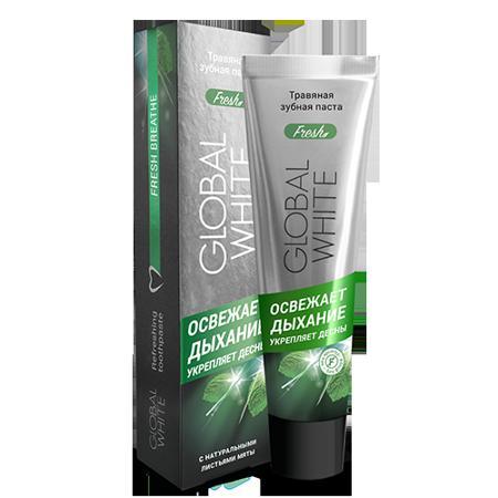 Купить Травяная зубная паста освежающая дыхание 100 мл global white
