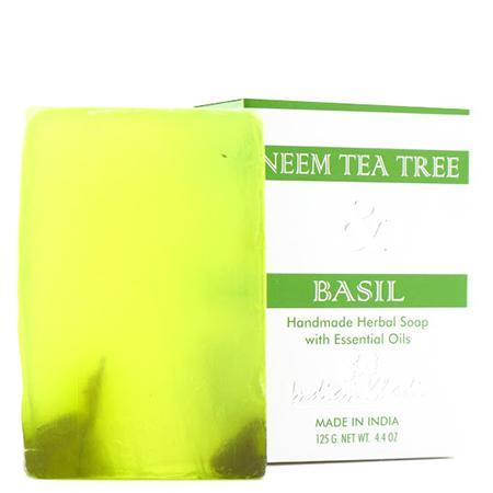 Купить Антисептическое мыло с базиликом, чайным деревом и нимом indian khadi