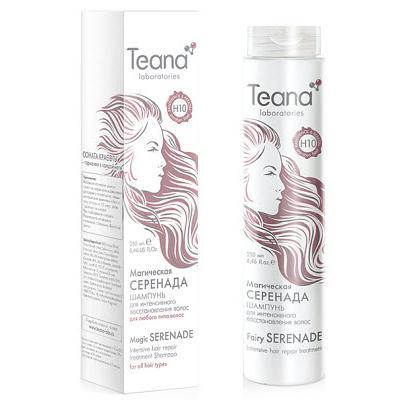 Купить Шампунь для интенсивного восстановления волос с пантенолом и кератином teana