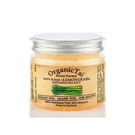 Купить Скраб для тела на основе соли андаманского моря «лемонграсс» organic tai