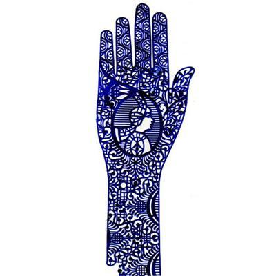 Купить Трафарет для мехенди рука pranastudio