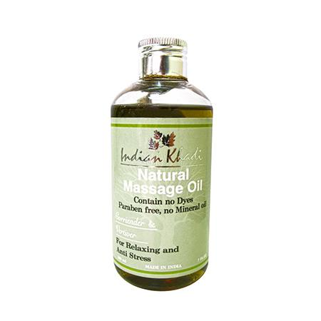 Купить Травяное массажное масло с кориандром и ветивером indian khadi