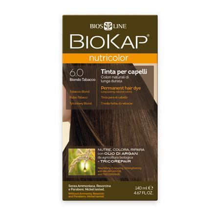 Купить Стойкая натуральная крем-краска для волос biokap nutricolor (цвет табачный) biosline