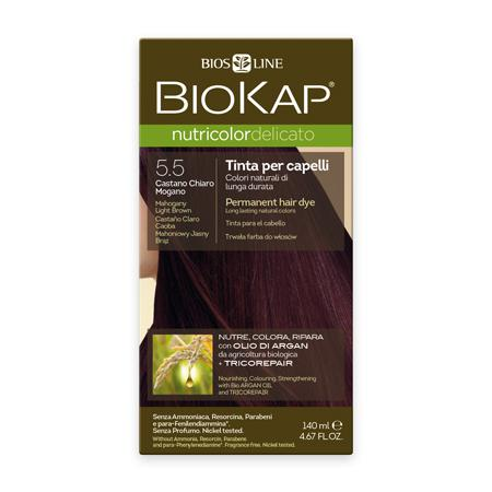 Купить Стойкая крем-краска для чувствительных волос biokap nutricolor delicato (цвет махагоновый светло-коричневато-красный) biosline