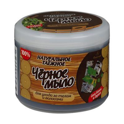 Купить Натуральное таежное мыло для бани и душа для ухода за телом и волосами черное floresan
