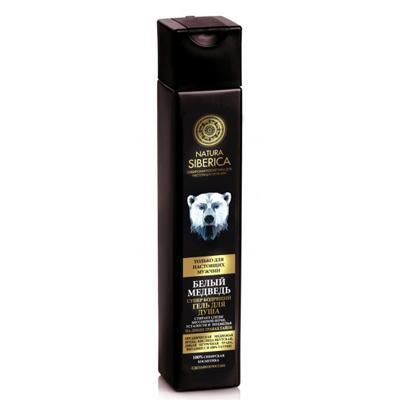 Купить Гель для душа бодрящий для мужчин белый медведь natura siberica