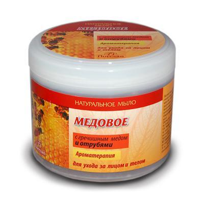 Купить Мыло медовое с гречишным медом и отрубями floresan