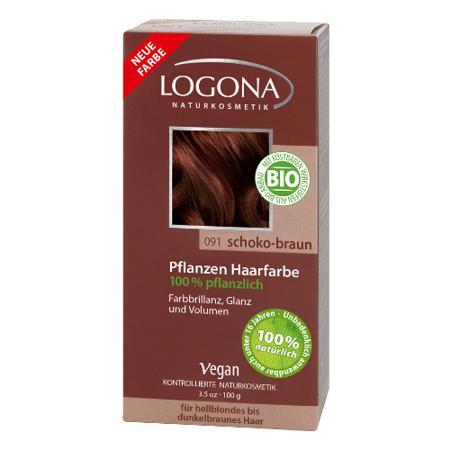 Купить Растительная краска для волос 091 «шоколадно-коричневый» logona