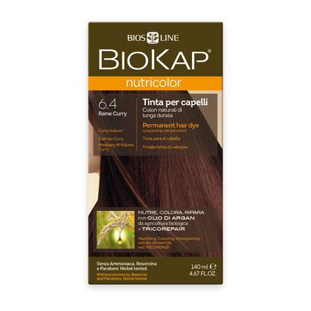 Купить Стойкая натуральная крем-краска для волос biokap nutricolor (цвет медно-золотистый) biosline
