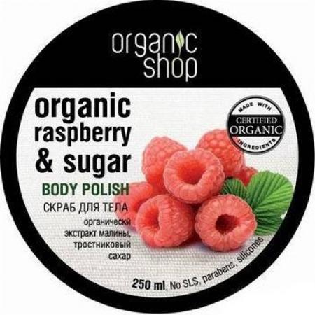 Купить Скраб для тела «малиновые сливки» organic shop