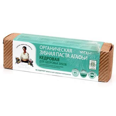 Купить Органическая зубная паста для здоровья зубов кедровая рецепты бабушки агафьи