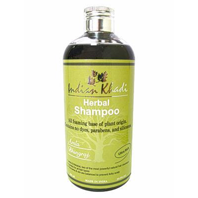 Купить Восстанавливающий шампунь с амлой и белой эклиптой indian khadi