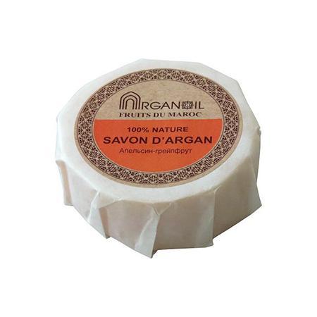 Купить Мыло с арганой и маслом карите апельсин-грейпфрут argana