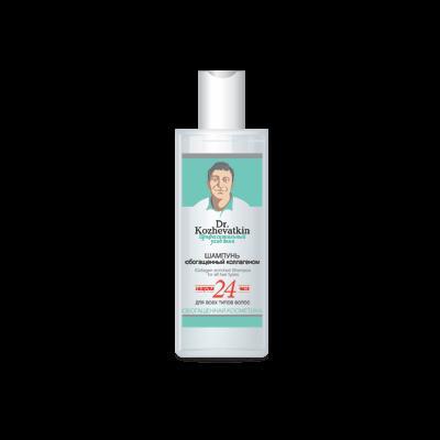 Купить Шампунь, обогащенный коллагеном для всех типов волос доктор кожеваткин