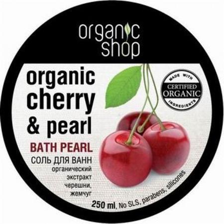 Купить Соль жемчужная для ванн «кенийская черешня» organic shop