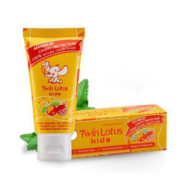Купить Детская зубная паста kids orange & pomegranate апельсин и гранат twin lotus