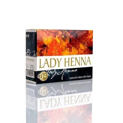 Купить Краска для волос на основе хны lady henna aasha (цвет черный  индиго) ааша