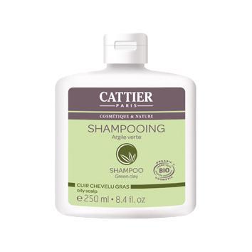 Купить Шампунь для жирных волос с зеленой глиной cattier